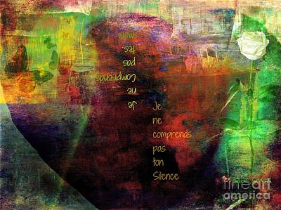 Faniart Africa America Mixed Media - Serving In Silence by Fania Simon