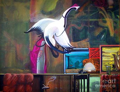 Dali Like Painting - Sesshu's Goose by E Dan Barker