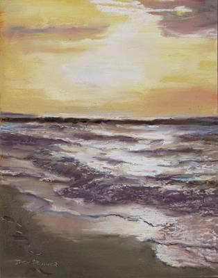 Painting - Sesuit Sunset by Jack Skinner