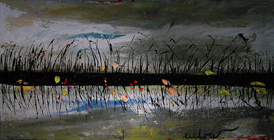 Set On The Firth Marshes Of Karalino Bugaz Goodbye Winter Art Print by Alik Vetrof