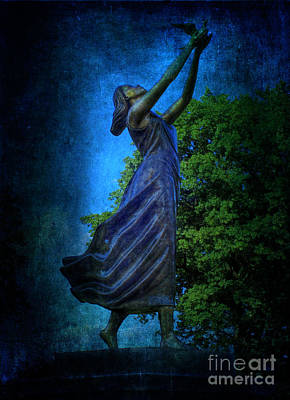Photograph - Setting Free My Little Angel In Blue by Lee Dos Santos