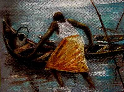 Art Print featuring the painting Setting Out II by Oyoroko Ken ochuko