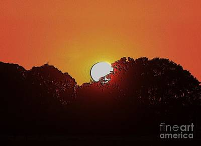 Digital Art - Setting Sun by Erica Hanel