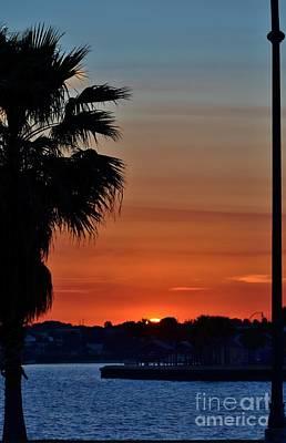 Photograph - Setting Sun From Jensen Causeway by Lynda Dawson-Youngclaus