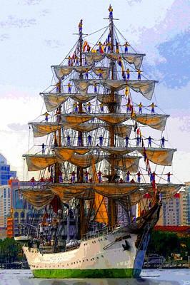 Gloria Digital Art - Setting The Sails by David Lee Thompson