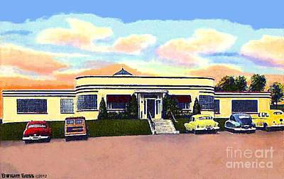 Painting - Seven Acre Dairy Bar In Norristown Pa In 1950 by Dwight Goss