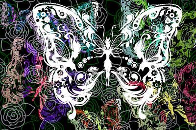 Seven Butterflies Art Print by Angelina Vick