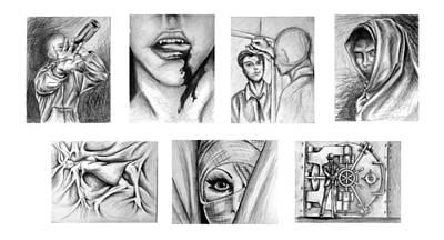 Seven Deadly Sins Art Print by Steven  Burkett