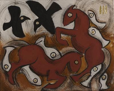 Seven Fish Art Print by Sophy White