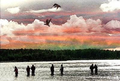 Digital Art - Seven Fishermen by Carrie OBrien Sibley
