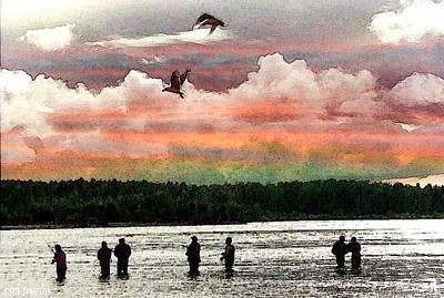 Seven Fishermen Art Print