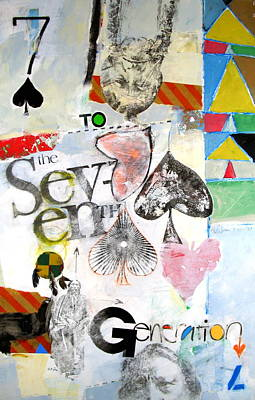 Painting - Seven Of Spades 27-52 by Cliff Spohn
