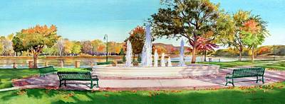 Painting - Seven Rivers Fountain by Phyllis Martino