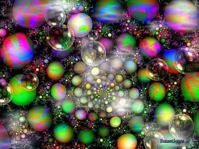 Multicolor Abstract Digital Art - Seven Wonders by Robert Orinski