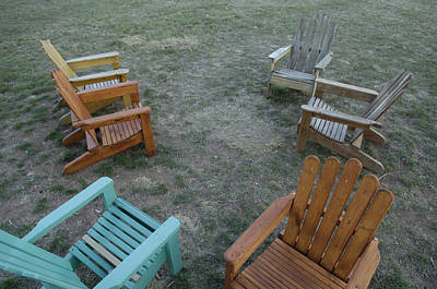 Several Lawn Chairs Scattered Print by Joel Sartore