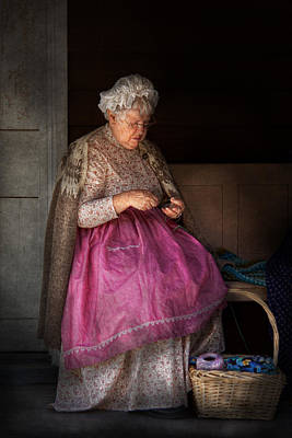 Photograph - Sewing - Ribbon - Granny's Hobby  by Mike Savad