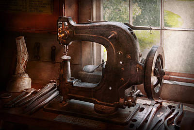 Photograph - Sewing Machine - Leather - Saddle Sewer by Mike Savad
