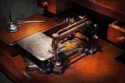 Photograph - Sewing Machine - Sewing For Small Hands  by Mike Savad