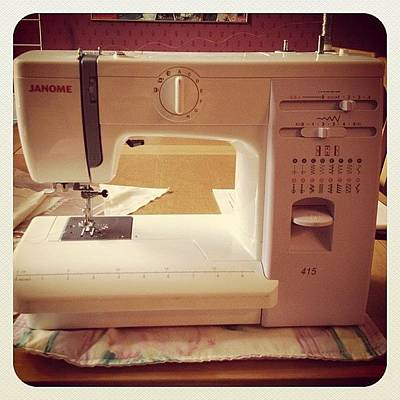 Machine Photograph - #sewing #machine #artproject #hobby by Grace Shine