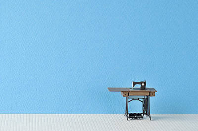 Sewing Machine Table Model Made ??of Paper Print by Yagi Studio