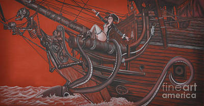 Drawing - Sexy Pirate by Joe Dragt