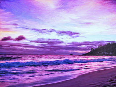 Grande Painting - Seychelles Sunset by Dominic Piperata