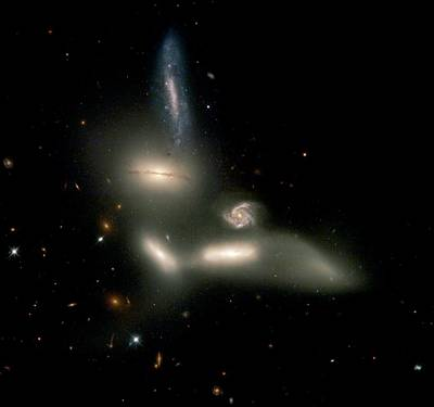 Sextet Photograph - Seyfert's Sextet Galaxy Cluster by Nasaesastscij.english, U.manitoba, Et Al