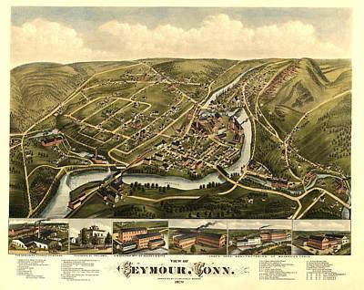 Seymour Connecticut 1879 Art Print by Donna Leach