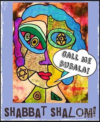 Hamas Painting - Shabbat Shalom by Sandra Silberzweig