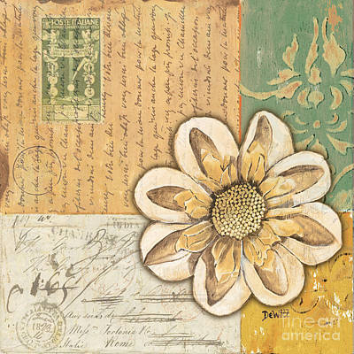 Postcards Painting - Shabby Chic Floral 2 by Debbie DeWitt