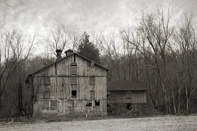 Late Day Light Photograph - Shabby Old Cupola Barn by John Stephens