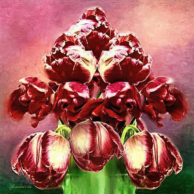 Post Impressionism Mixed Media - Shabby Tulips by Georgiana Romanovna