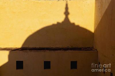 Shadow Cast On The Amber Fort Art Print by Inti St. Clair