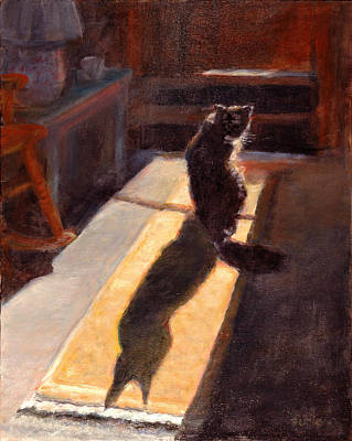 Shadow Cat Art Print by Rita Bentley