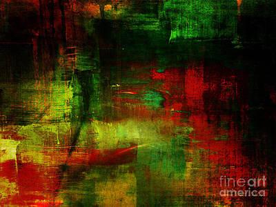 Yesayah Mixed Media - Shadow Into Light Green by Fania Simon