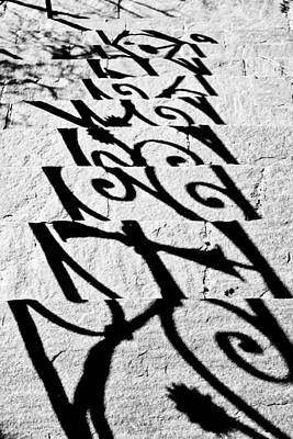 Black Metal Fence Photograph - Shadow Of A Fence by Joana Kruse