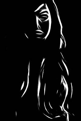 Female Body Digital Art - Shadow Of Herself by Steve K