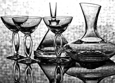 Water Jars Digital Art - Shadow Of Luxury Glass No.1 by Chavalit Kamolthamanon