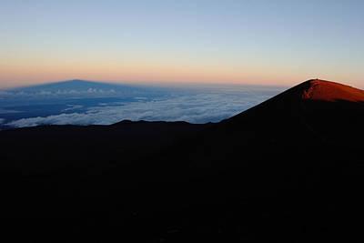 Shadow Of Mauna Kea Projected Art Print by Steve And Donna O'Meara