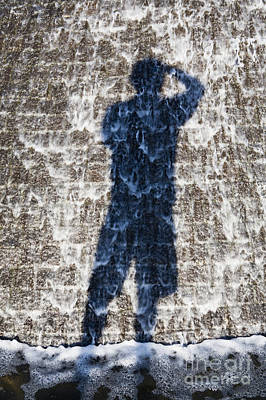Shadow Of Photographer Taking Picture Art Print by Paul Edmondson