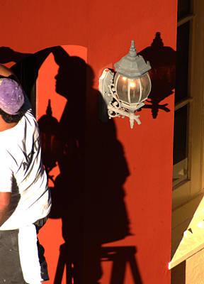 Shadow Painter Art Print