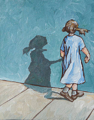 Shadow Dancing Painting - Shadow Play by Sandy Tracey