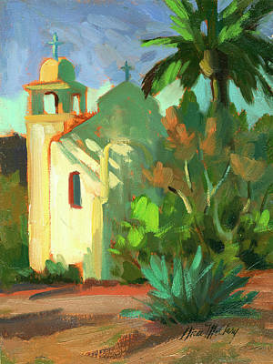 Mountain Valley Painting - Shadows At St. Richard's by Diane McClary