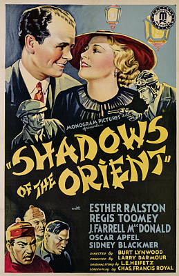 Shadows Of The Orient, From Left, Top Art Print by Everett