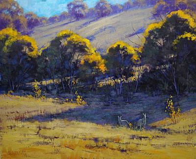 Kangaroo Painting - Shady Corner by Graham Gercken