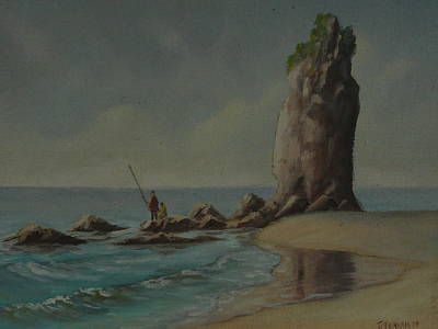 Painting - Shag Rock Sumner 1975 by Terry Perham