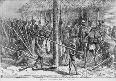 Shaka Slave Market In Africa Art Print by Everett