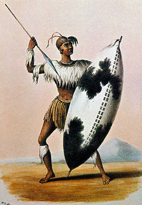 Photograph - Shaka Zulu (c1787-1828) by Granger