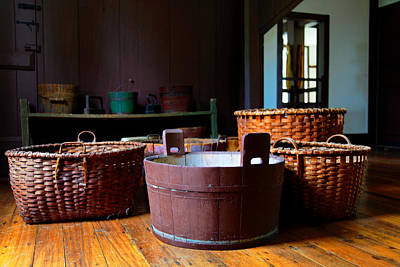 Shaker Baskets Art Print by Lone Dakota Photography