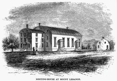 Shaker Meetinghouse, 1875 Art Print by Granger